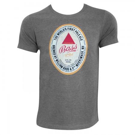 Bass Men's Grey Classic Logo T-Shirt