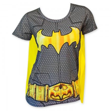 Batman Sublimated Women's Caped Costume T-Shirt