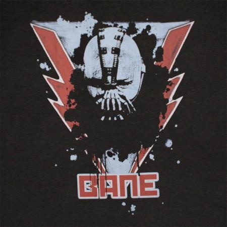 Dark Knight Rises Batman Bane Lightning T Shirt - Black