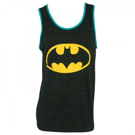 Batman Men's Blue Trim Tank Top