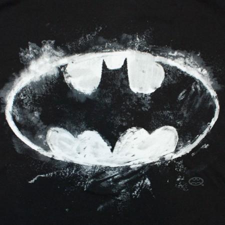 Batman Sidewalk Chalk Bat Signal Tee Shirt