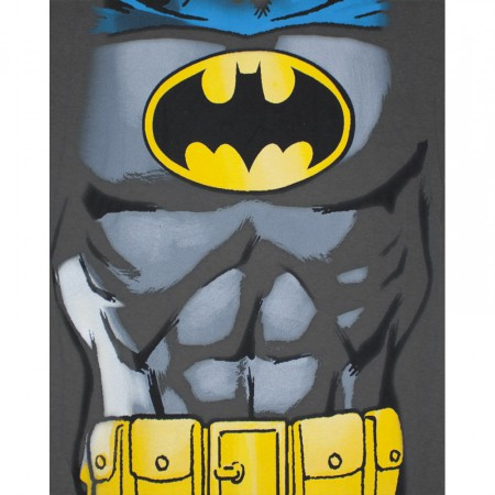 Batman Classic Retro Costume Gray Graphic T Shirt
