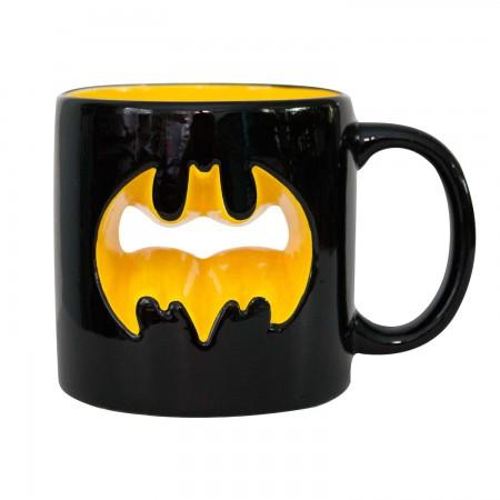 Batman Cutout Logo Black Mug