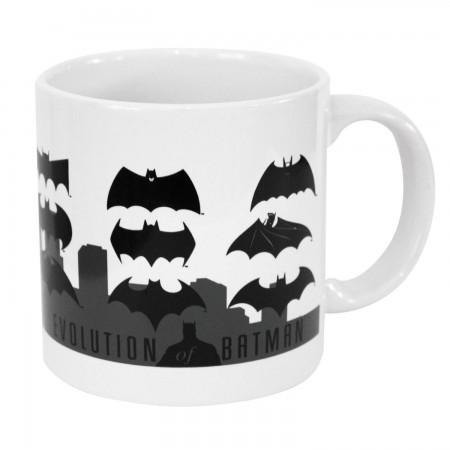 Batman White Evolution Logo Mug