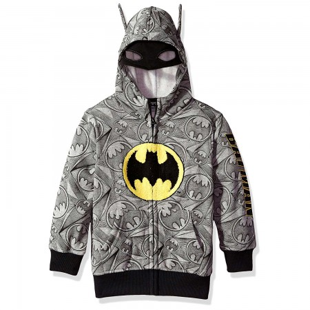 Batman Grey Big Boys Costume Hoodie