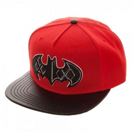 Batman Harley Quinn Carbon Fiber Snapback Hat
