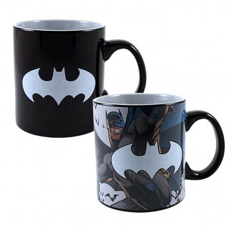 Batman Black Heat Reveal Jumbo Mug