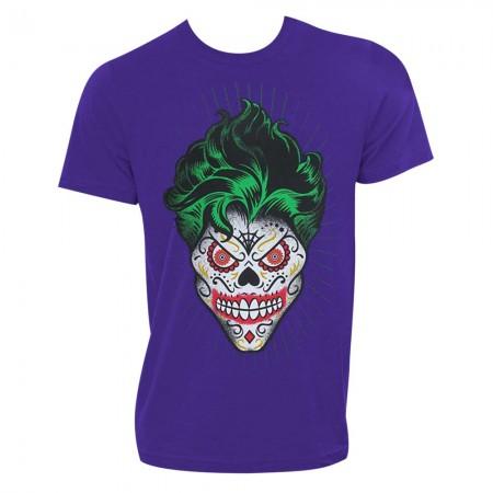 The Joker Sugar Skull Purple Tshirt