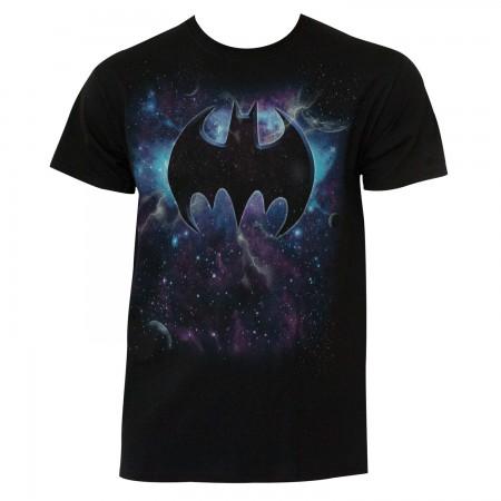 Batman Men's Black Space Logo T-Shirt
