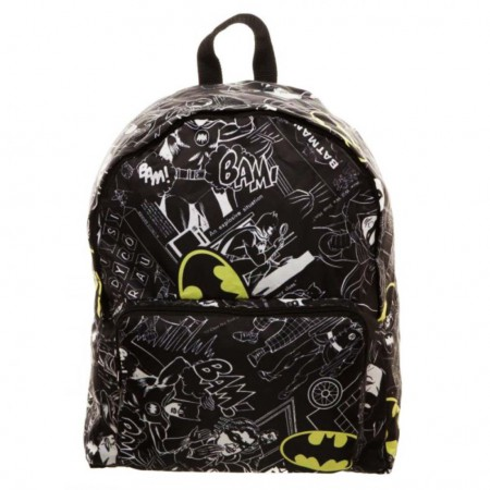 Batman Black Packable Bam Backpack