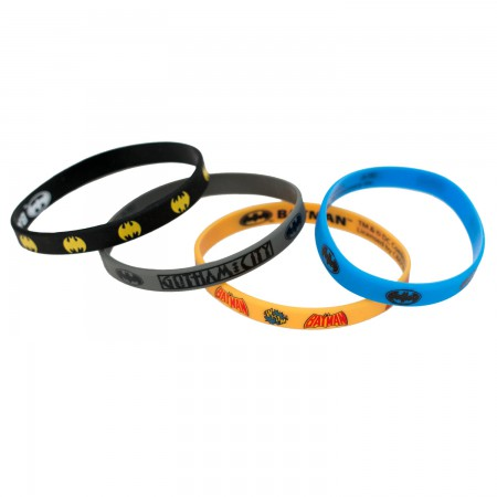 Batman Rubber Bat Signal Bracelet 4-Pack