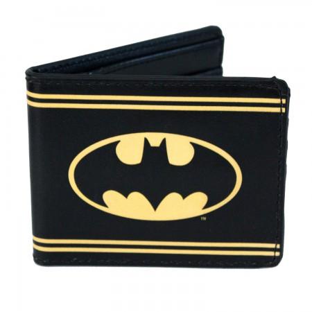 Batman Bi-Fold Black Striped Wallet