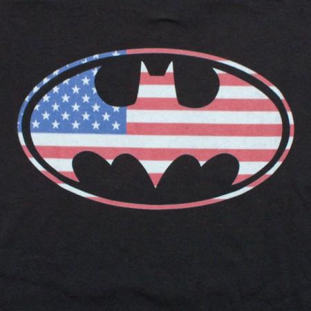 Batman American Flag T-Shirt - Black