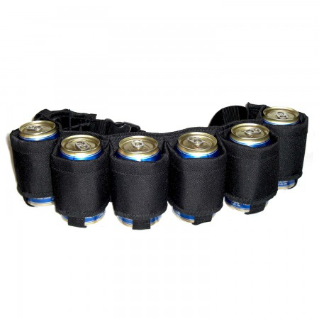 Black Six Pack Beer Belt