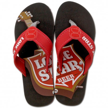Lone Star Beer Mens Sandals