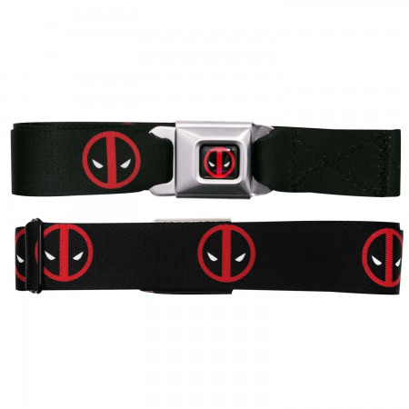 Deadpool Logos Seatbelt Belt