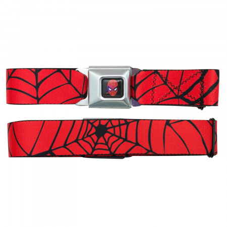 Spider-Man Web Seatbelt Buckle Belt