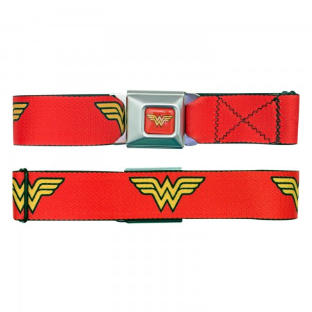 Wonder Woman Red Logo Seatbelt Belt