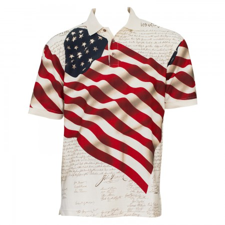Benji USA Patriotic Flag Polo