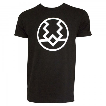 Black Bolt Logo Men's Black T-Shirt