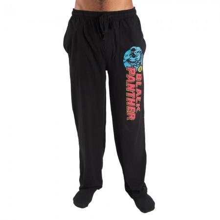 Black Panther Logo Black Sleep Pants