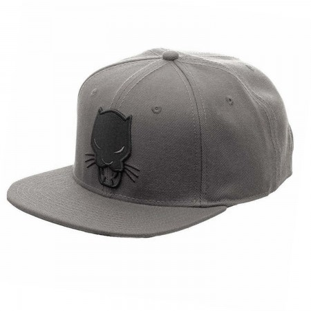 Black Panther Grey Snapback Hat