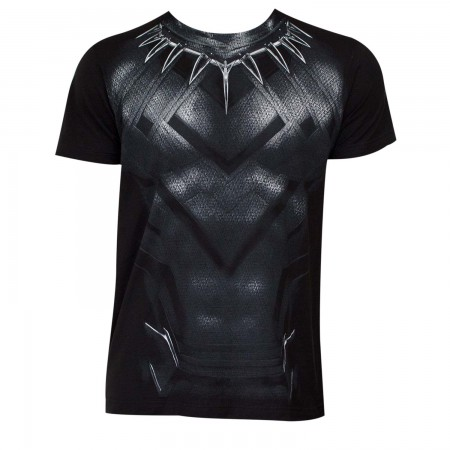 Captain America Civil War Black Panther Movie Suit Costume Tee