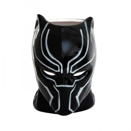 Black Panther Black Molded Mug