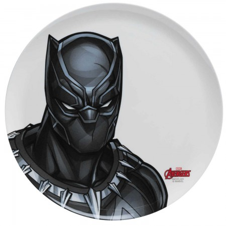 Black Panther White Melamine Dinner Plate