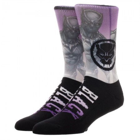 Black Panther Sublimated Knit Crew Socks
