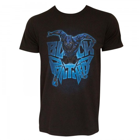 Black Panther Men's Black Attack Logo T-Shirt