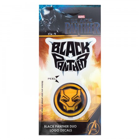 Black Panther Logo Decal Sticker Set Of 2
