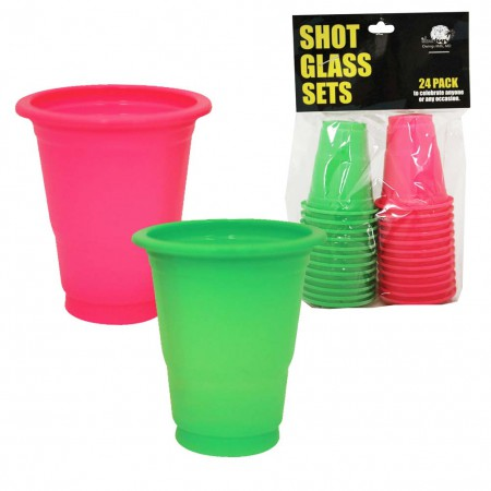 Black Light Plastic Shot Glasses