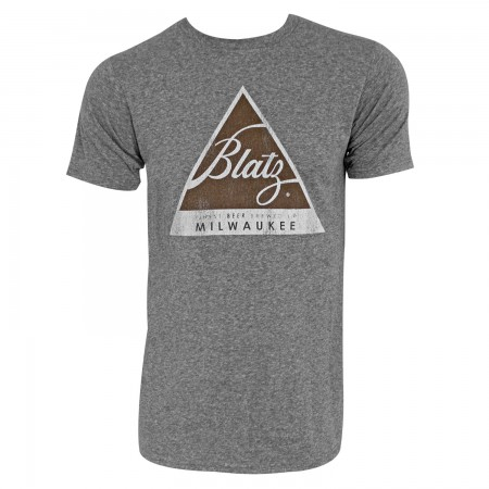 Blatz Logo Retro Brand Men's Grey T-Shirt