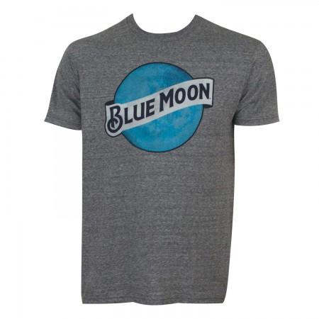 Blue Moon Men's Grey Logo T-Shirt