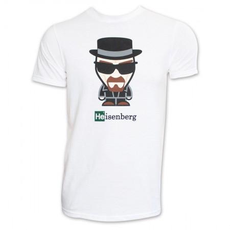 Breaking Bad Heisenberg Cartoon Shirt - White