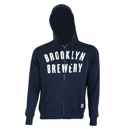 Brooklyn Brewery Men's Navy Blue Zip Hoodie