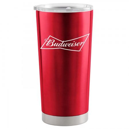 Budweiser Red 20 Oz Metal Tumbler Cup