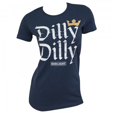 Bud Light Women's Navy Blue Dilly Dilly T-Shirt
