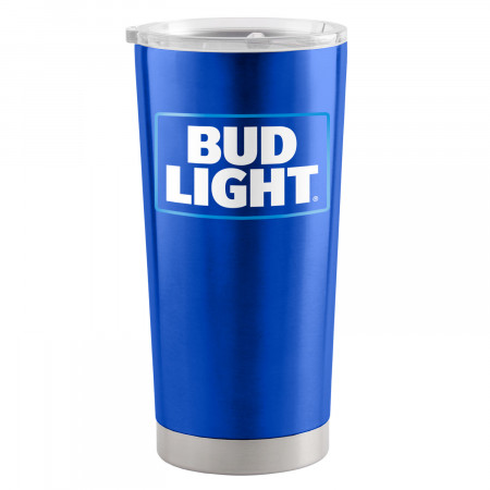 Bud Light Blue 20 Oz Metal Tumbler Cup