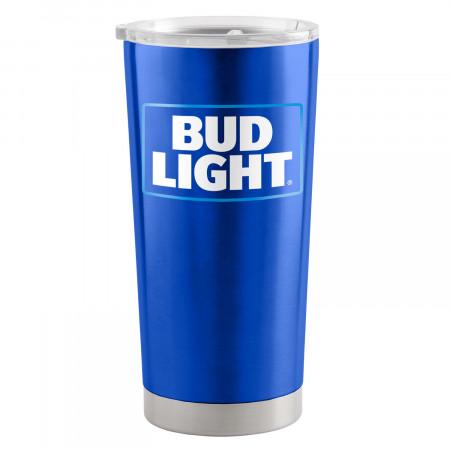 Bud Light Blue 20 Oz Metal Tumbler Cup