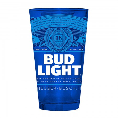Bud Light Label Blue Pint Glass