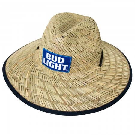 Bud Light Straw Life Guard Hat