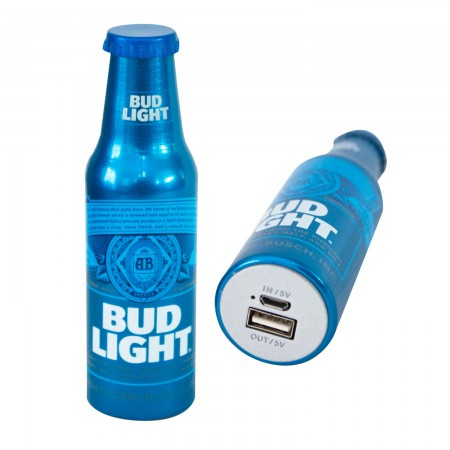 Bud Light Replica Beer Bottle Power Bank