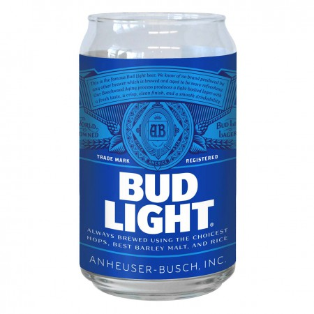 Bud Light Imitation Can Drinking Glass
