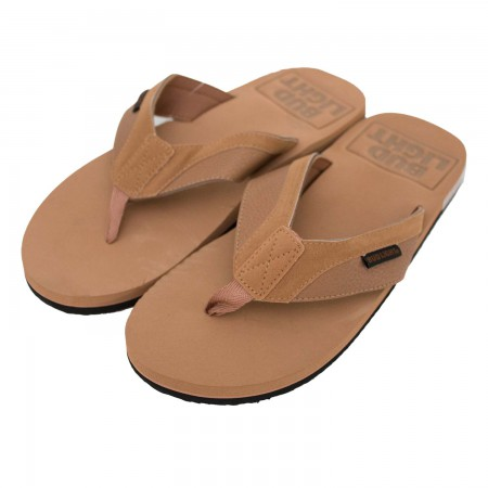Bud Light Men's Tan Flip Flops
