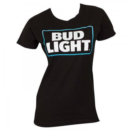 Bud Light Women's Black Tee Shirt