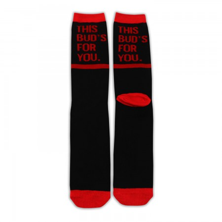 Budweiser This Bud's For You Black Men's Crew Socks