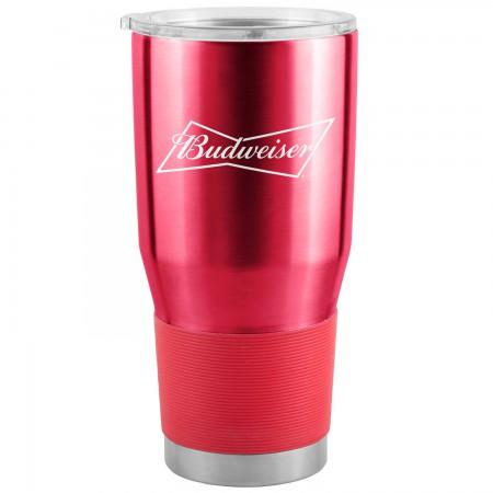 Budweiser Red 30 Oz Metal Tumbler Cup