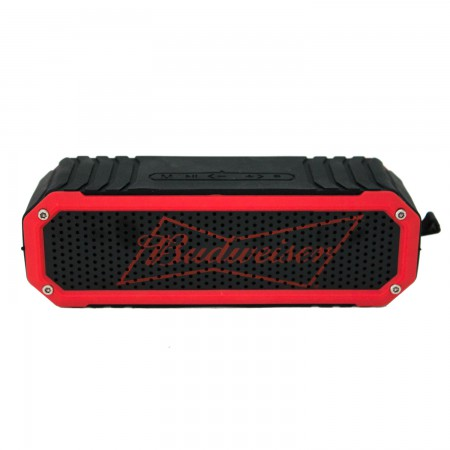 Budweiser Black & Red Rugged Bluetooth Speaker